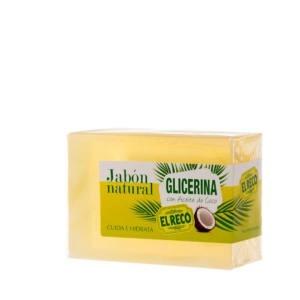 Jabón natural Glicerina con Aceite de coco