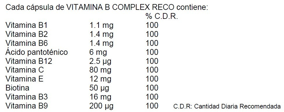 vitamina B complex info